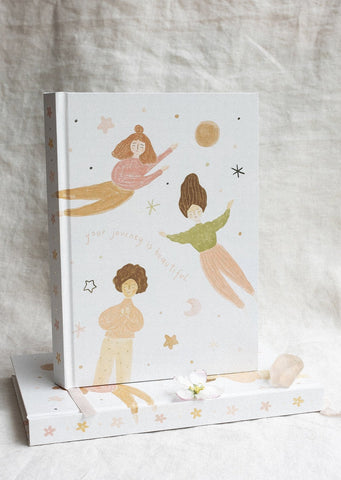Musings from the Moon - 'Your Journey is Beautiful' - A5 Blank Journal - Natural