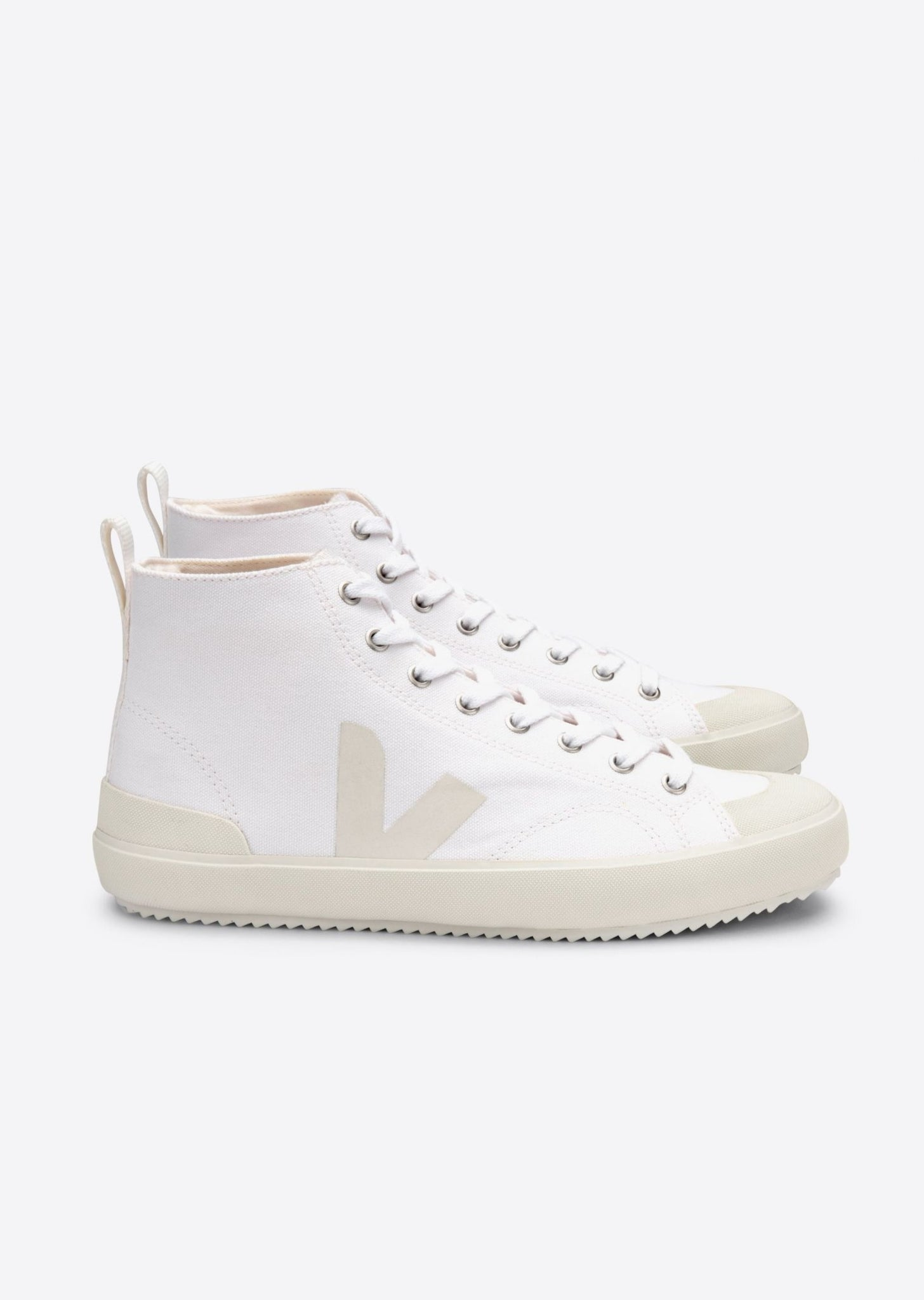 Nova Canvas High Top Sneakers - White Pierre