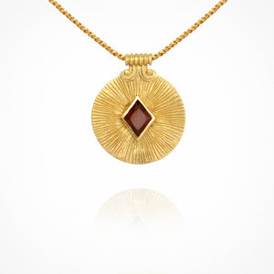 Sol Necklace - Gold with Garnet