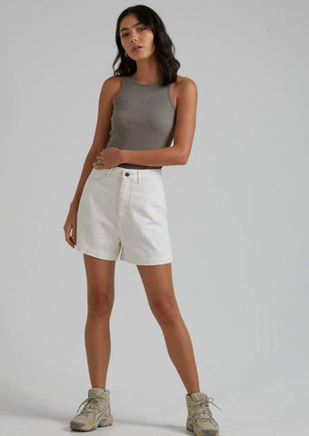 Afends - Seventy Threes Organic Denim Short - Off White