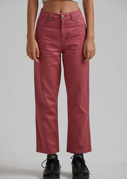 Afends - Shelby Hemp Twill High Waist Wide Leg Pant - Watermelon