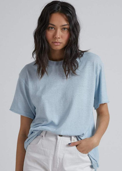 Slay Oversized Hemp Tee - Baby Blue