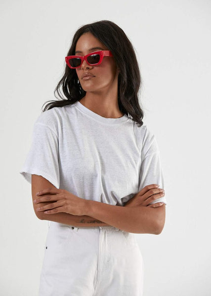 Slay Oversized Hemp Tee - White