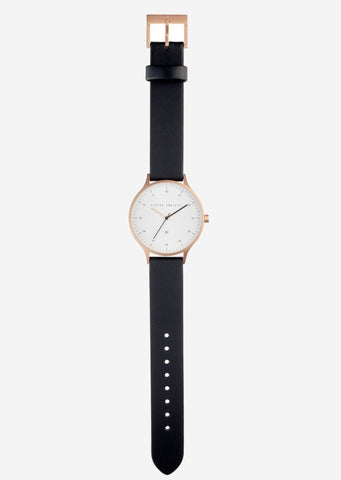 Status Anxiety - Inertia Watch - Brushed Copper / White Face / Black Strap