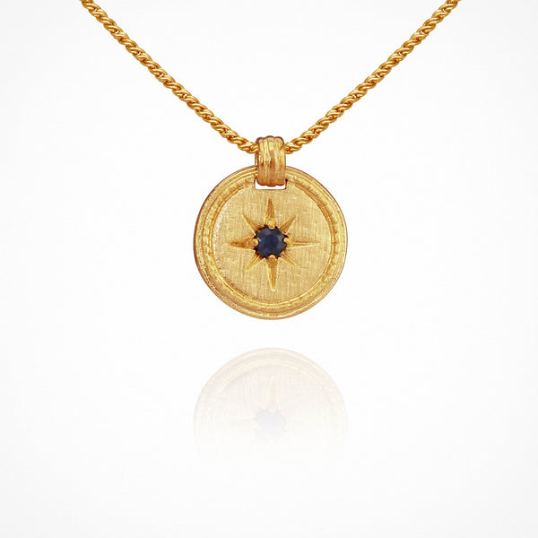 Stella Necklace - Gold with Blue Sapphire