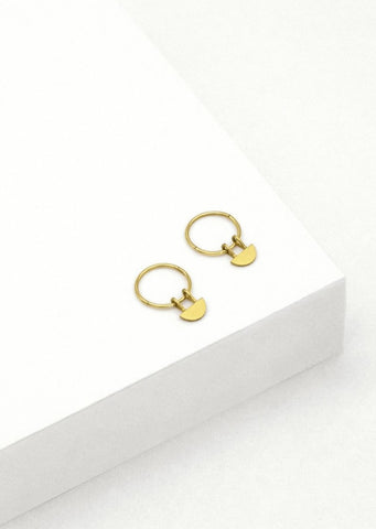 Yolly Sleeper Hoop Earrings - Gold Plated