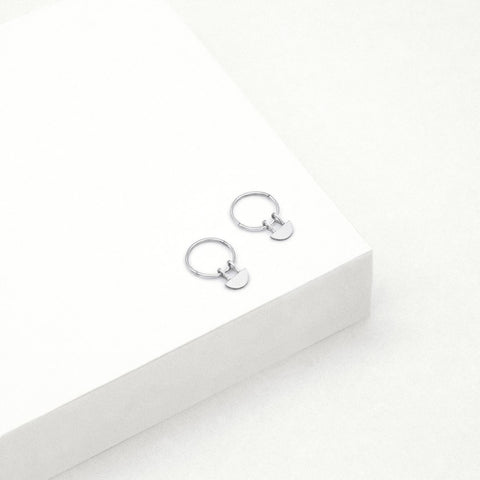 Yolly Sleeper Hoop Earrings - Sterling Silver