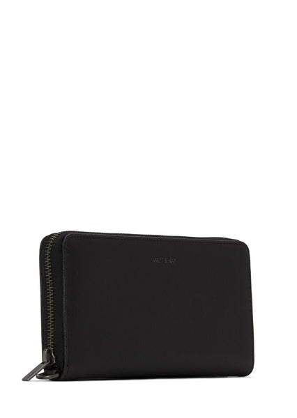 Matt & Nat - Elm Vintage Wallet - Black Vegan Leather