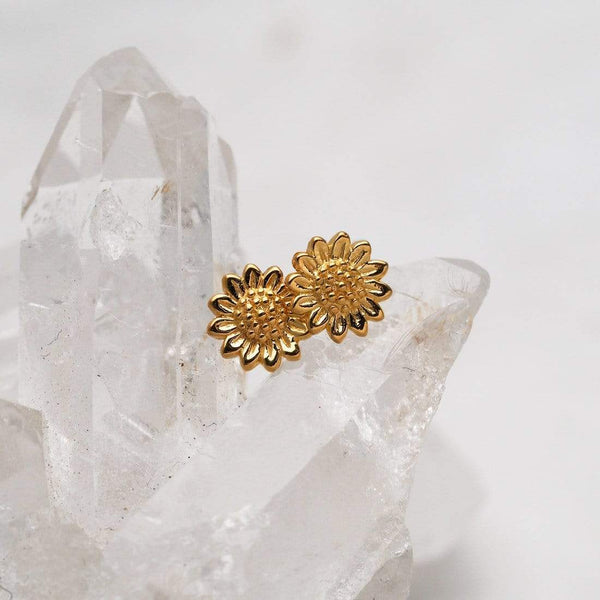 Sunflower Studs - Gold