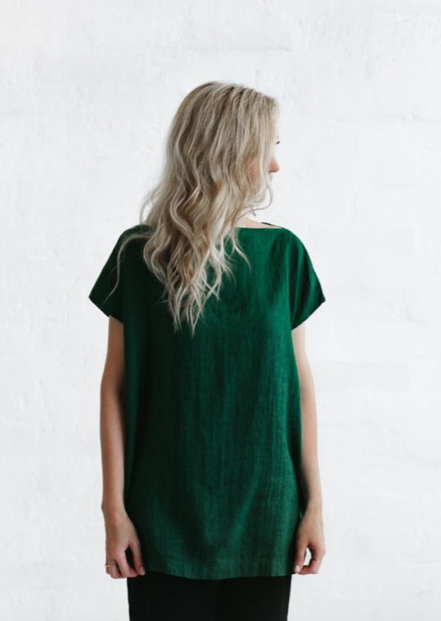 Linen Top - Green - Scout Newcastle