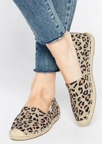 Platform Smoking Slipper - Leopard