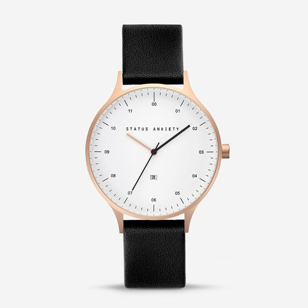 Inertia Watch - Brushed Copper / White Face / Black Strap - Scout Newcastle