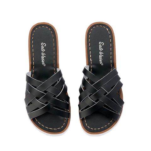 Retro Saltwater Slides - Black - Scout Newcastle