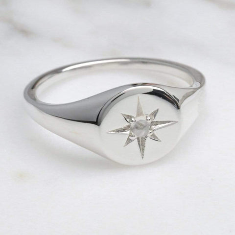 Enchanted Light Ring with Moonstone - Silver