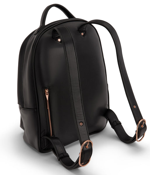 Bali Vegan Backpack - Black & Rose Gold - Scout Newcastle