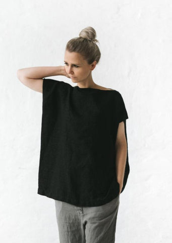 Linen Top - Black - Scout Newcastle
