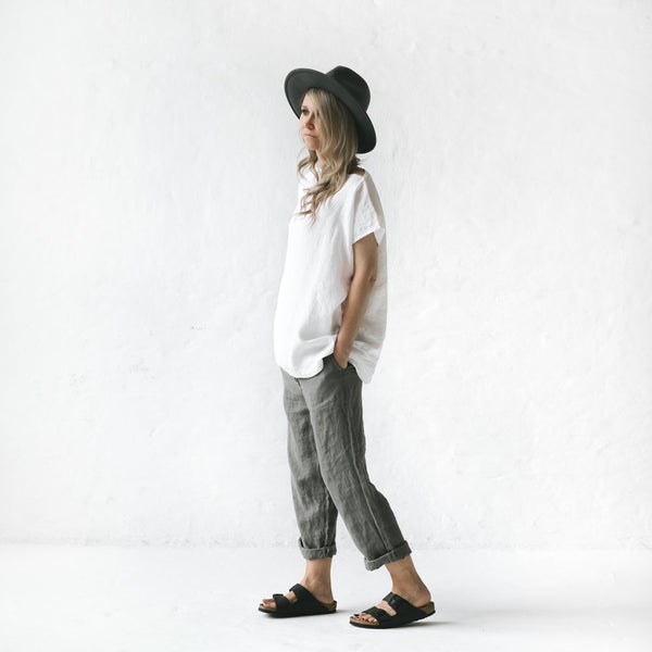 Linen Top - White - Scout Newcastle
