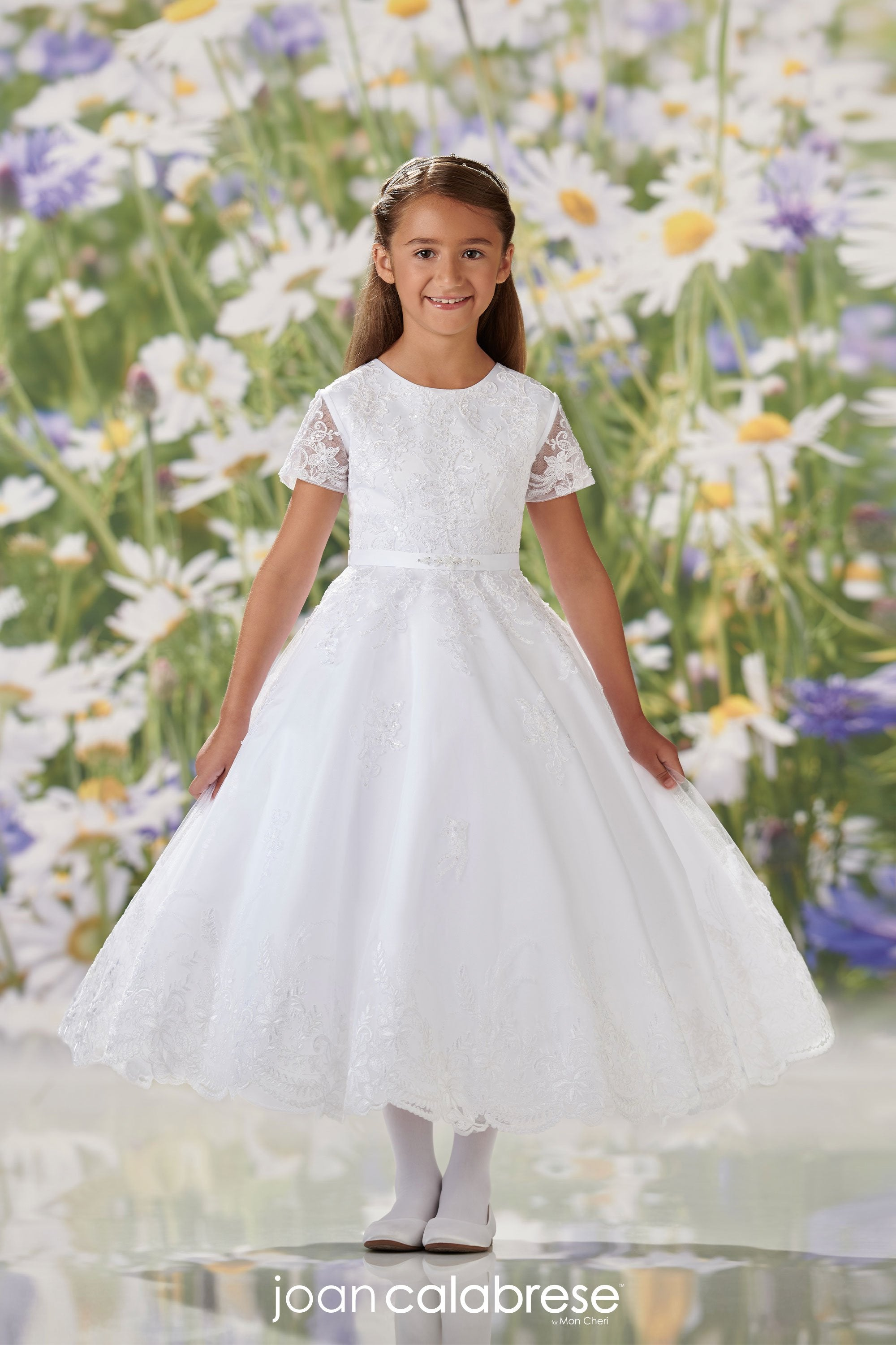 Joan Calabrese For Mon Cheri Communion Dress 120354 - Nenes Lullaby Boutique Inc