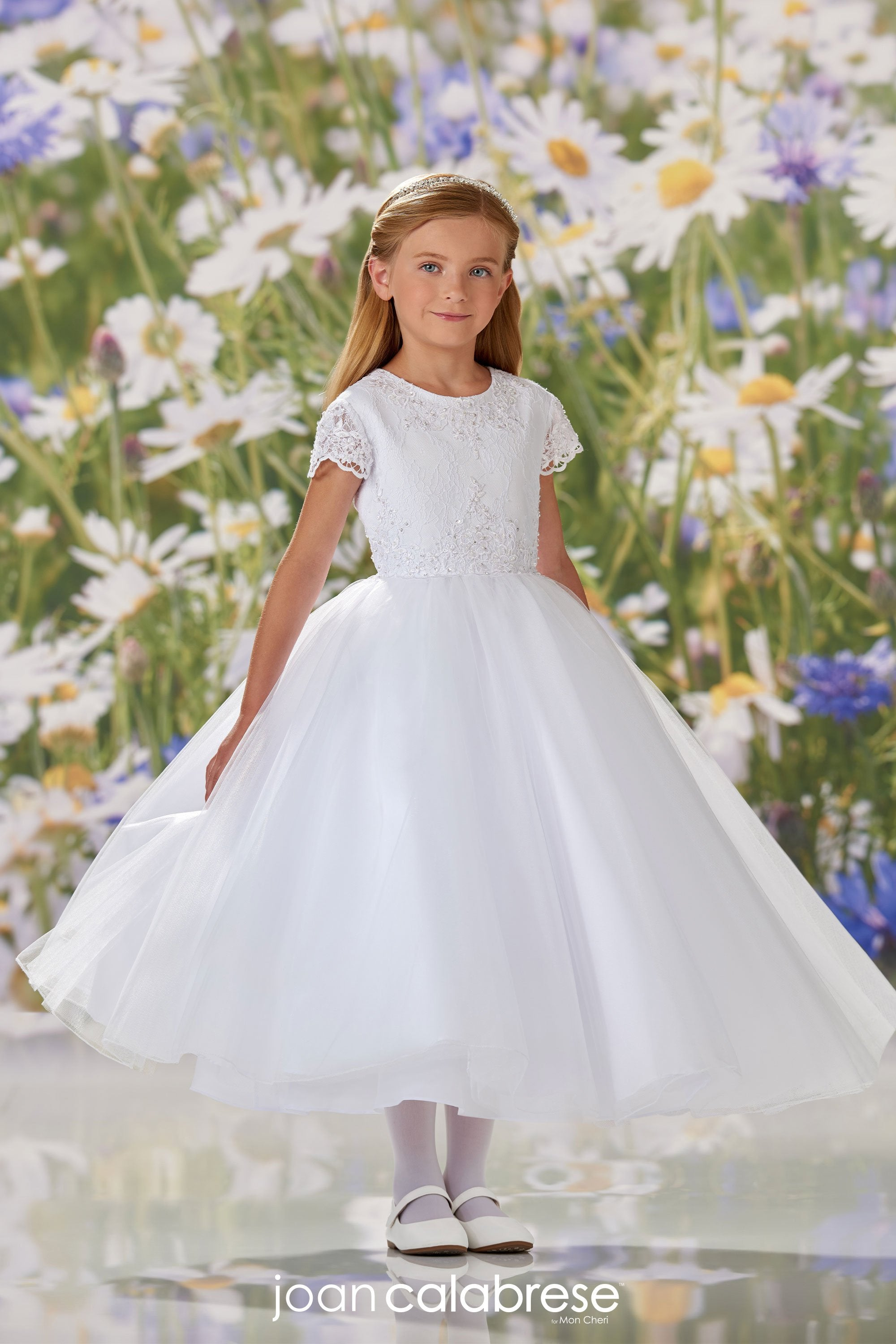 Joan Calabrese For Mon Cheri Communion Dress 120356 - Nenes Lullaby Boutique Inc
