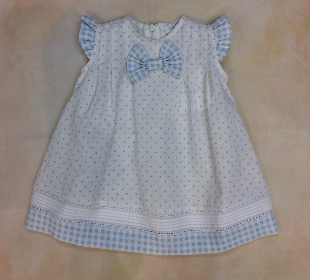 Fashion Polka Dot Pastel Blue Dress 1205-009-012
