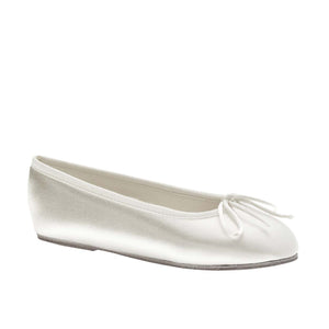 BW144 Little Girl Satin Ballet Flat dyeable - Nenes Lullaby Boutique Inc