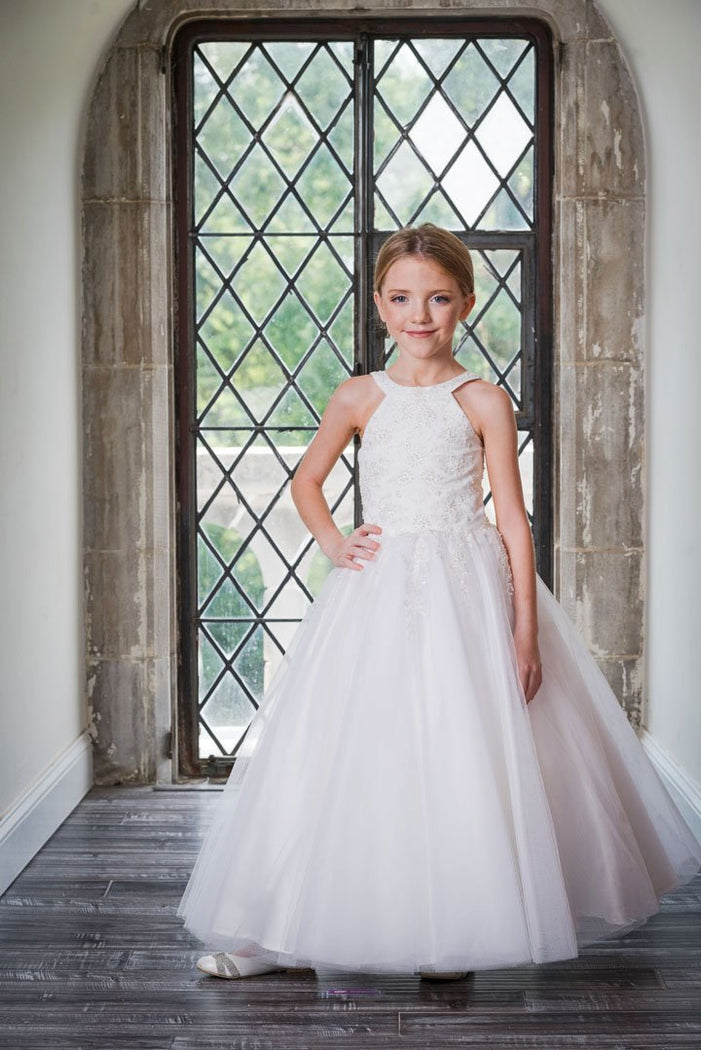 Macis Design 1st Communion Dress MD1840T - Nenes Lullaby Boutique Inc