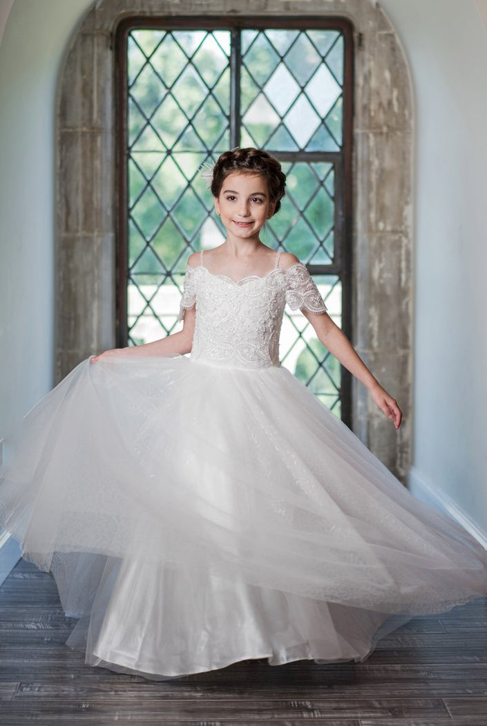 Macis Design 1st Communion Dress MD1920 - Nenes Lullaby Boutique Inc