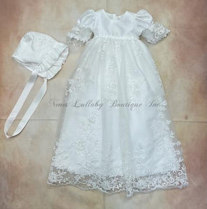 CH204MDDW Christening gown - Nenes Lullaby Boutique Inc