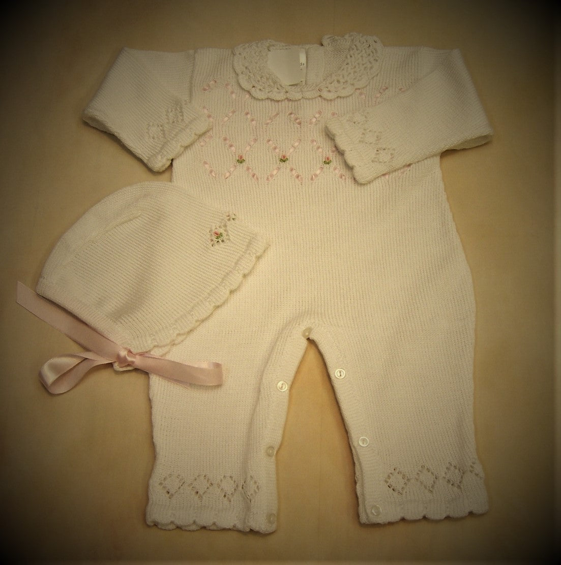 100% Pima Cotton Knit Coverall ATKSP30 - Nenes Lullaby Boutique Inc