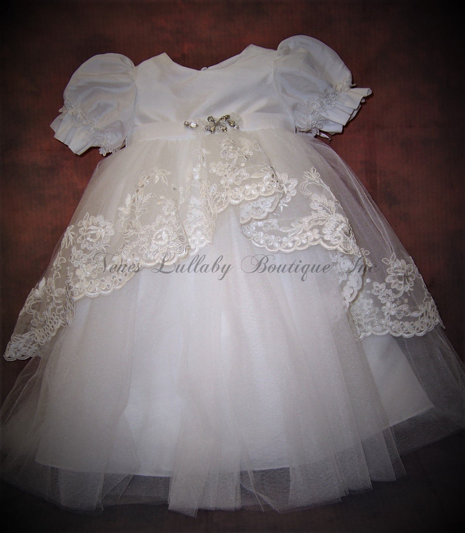 Amelia Christening Short Dress by Macis Design