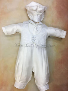 Anton Shantung Boys Christening outfit by Piccolo Bacio PB_Anton_shg_ls_lp - Nenes Lullaby Boutique Inc