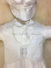 Load image into Gallery viewer, Anton Shantung Boys Christening outfit by Piccolo Bacio PB_Anton_shg_ls_lp