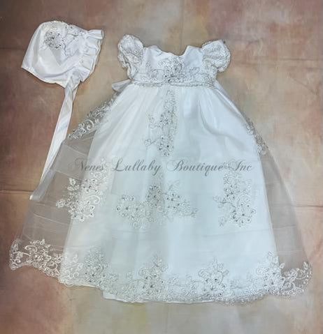 Angel CH251DWMD Girls  Christening gown - Nenes Lullaby Boutique Inc