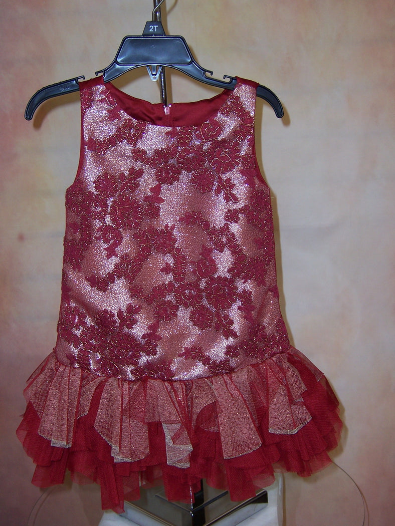 Biscottiinc red and gold delight BCSS729 - Nenes Lullaby Boutique Inc
