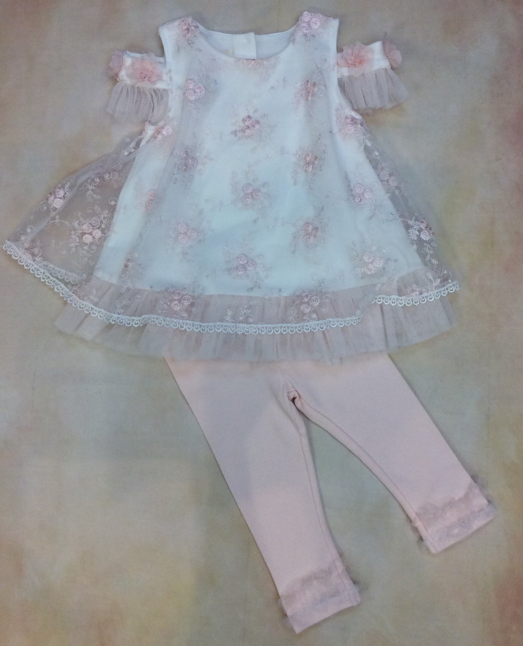 Infant girl two piece swing set BCDCHA502 - Nenes Lullaby Boutique Inc