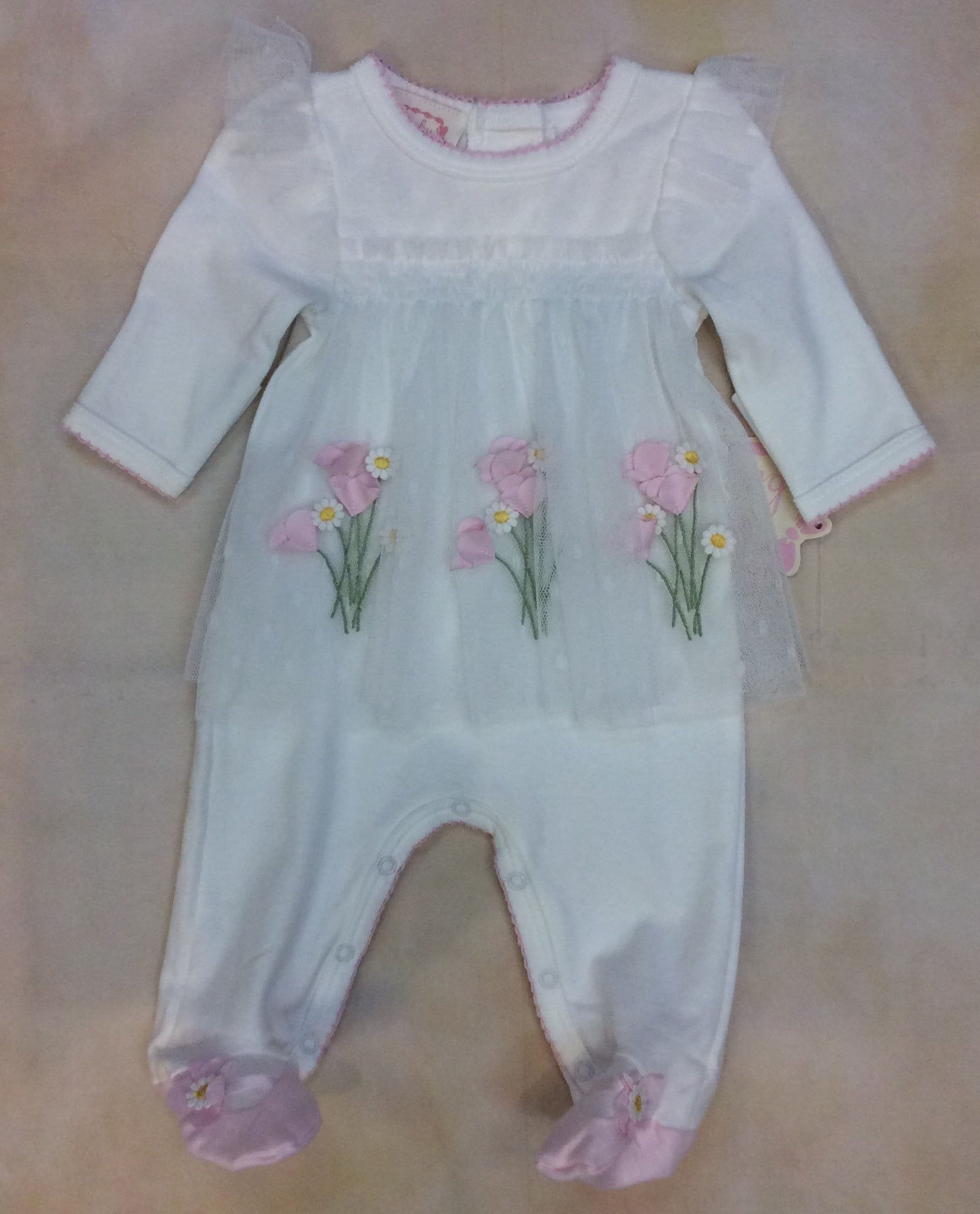 Baby Girl Footed layette take me home BCDCHN305 - Nenes Lullaby Boutique Inc
