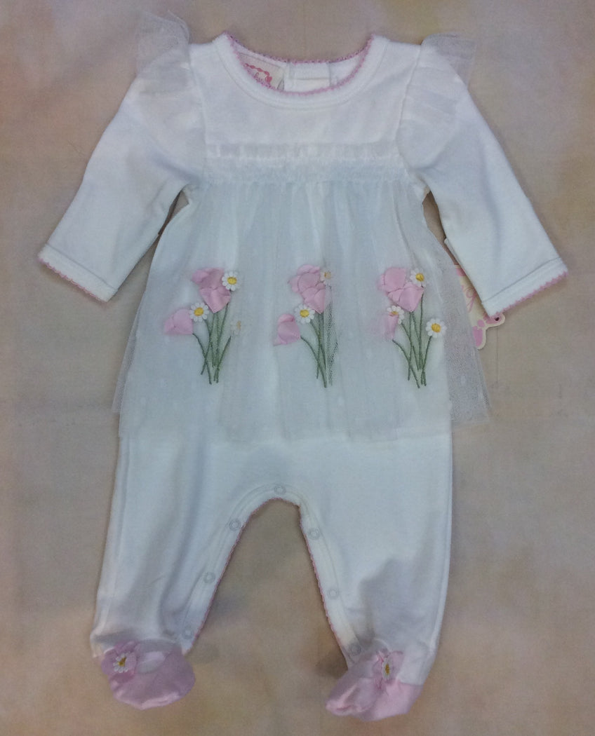 Baby Girl Footed layette take me home BCDCHN305