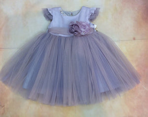 BG9132LIL Girls Party Special Occasion Dress w/matching hair clip - Nenes Lullaby Boutique Inc