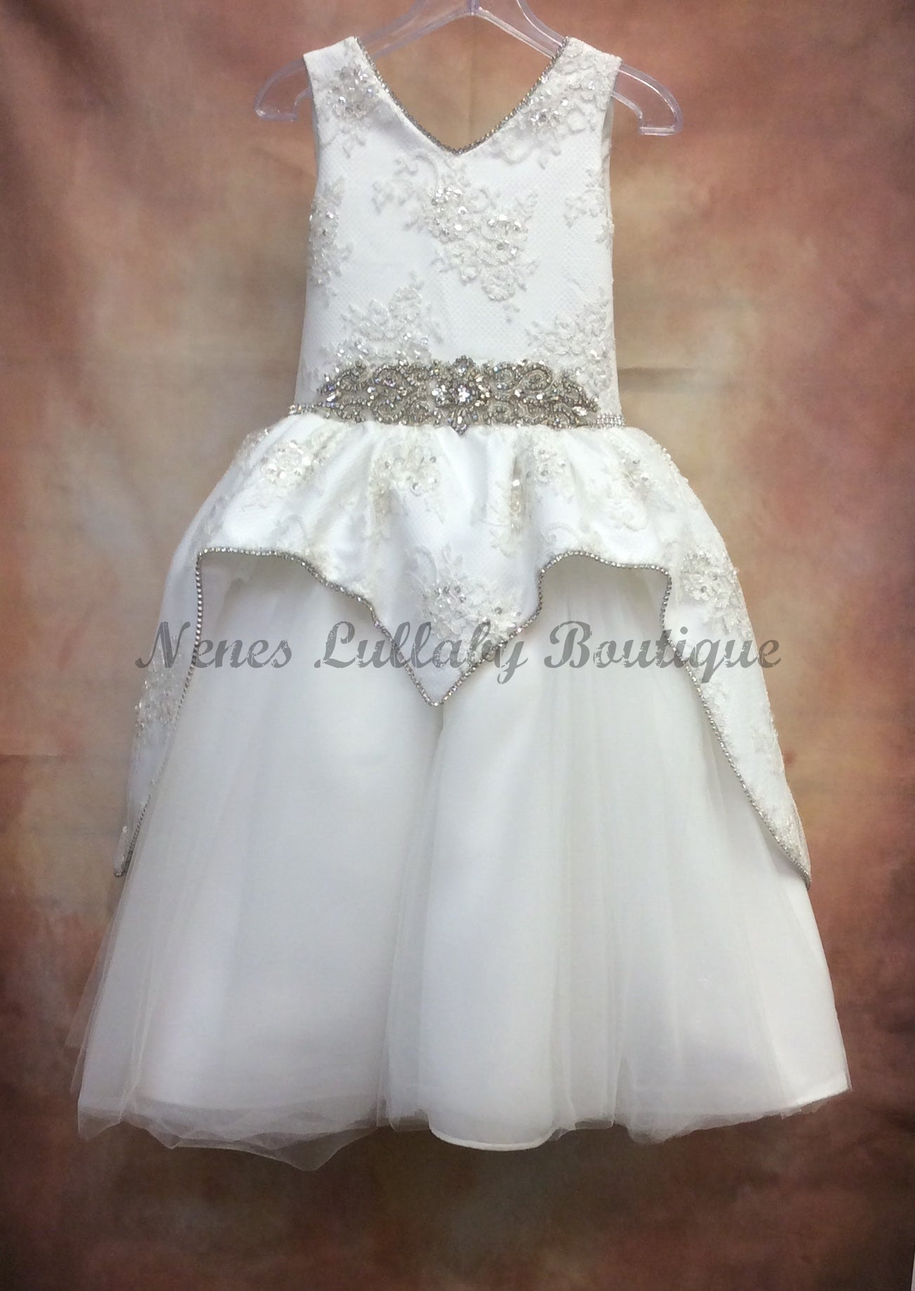 Becky Communion Dress by Piccolo Bacio Couture - Nenes Lullaby Boutique Inc