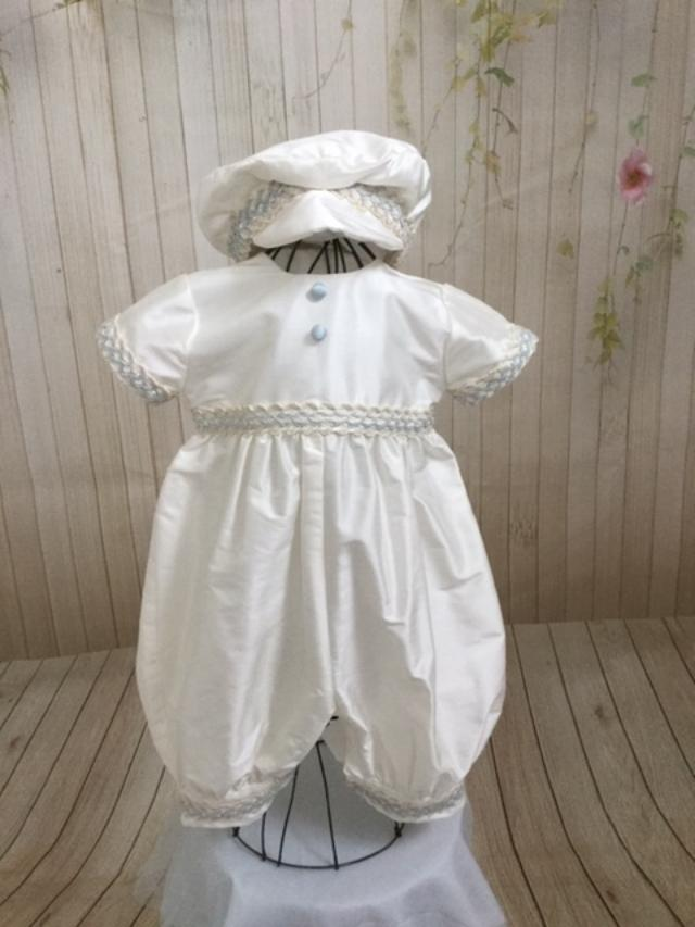Jack Christening outfit by Christie Helene Couture