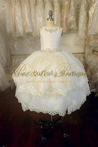 Piccolo Bacio Domenique Girl Communion Dress - Nenes Lullaby Boutique Inc