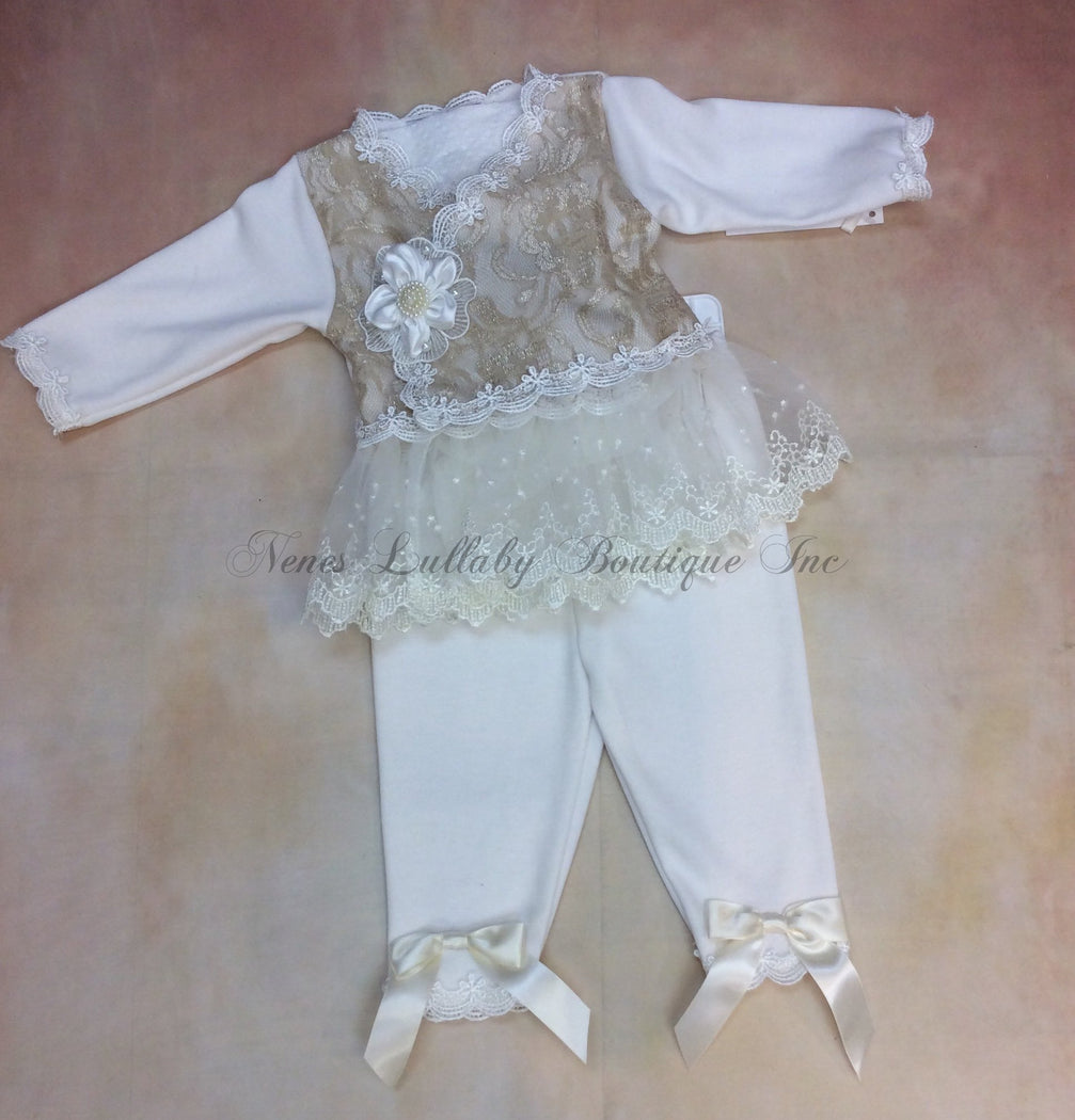 Erin Baby Girls Vintage Lace take home set - Nenes Lullaby Boutique Inc