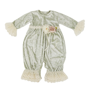 Abigail Coverall Frilly Frocks - Nenes Lullaby Boutique Inc