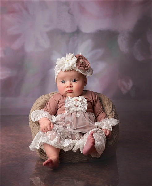 FMA04 Margarette Girl Coverall by Haute Baby & Frilly Frocks - Nenes Lullaby Boutique Inc