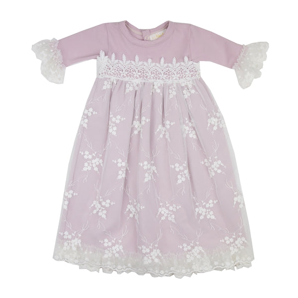 HB_SLM01  Haute Baby Layette Gown