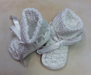 ATKMM01WW Baby Handmade Knit Booties