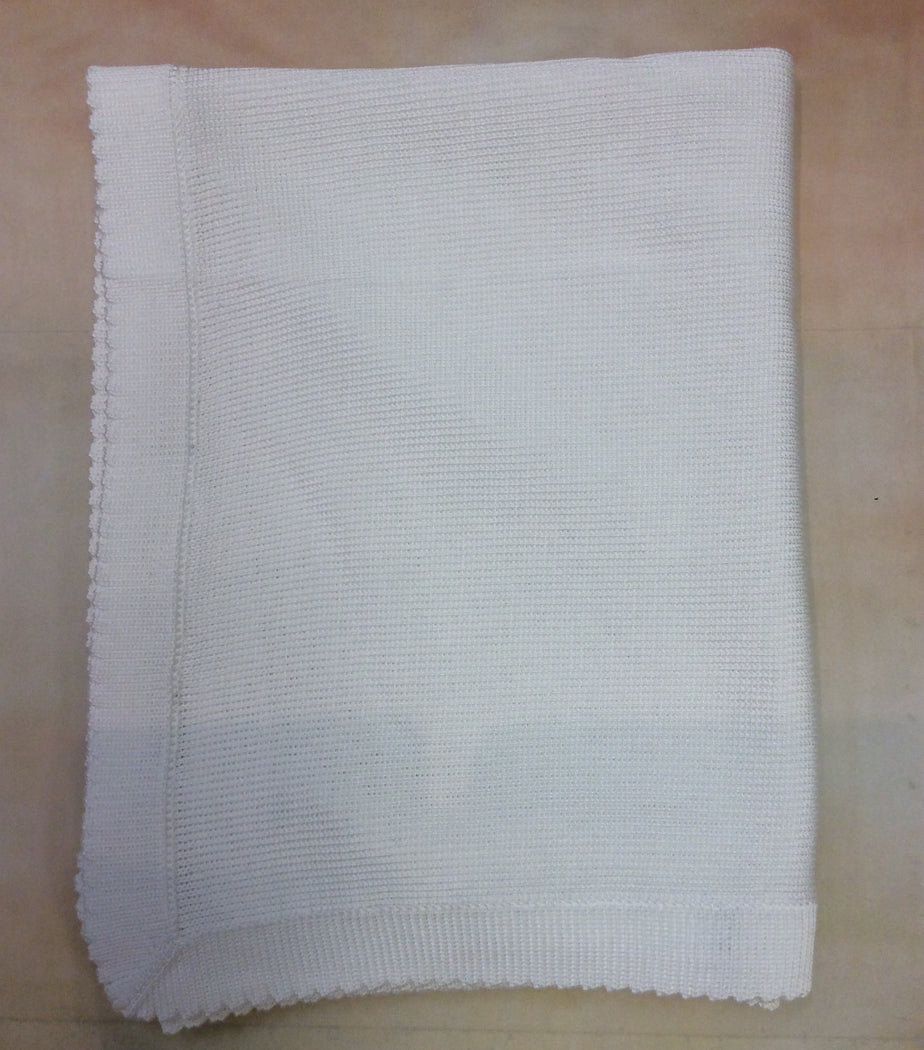 ATKM01WNC White 100% cotton Blanket