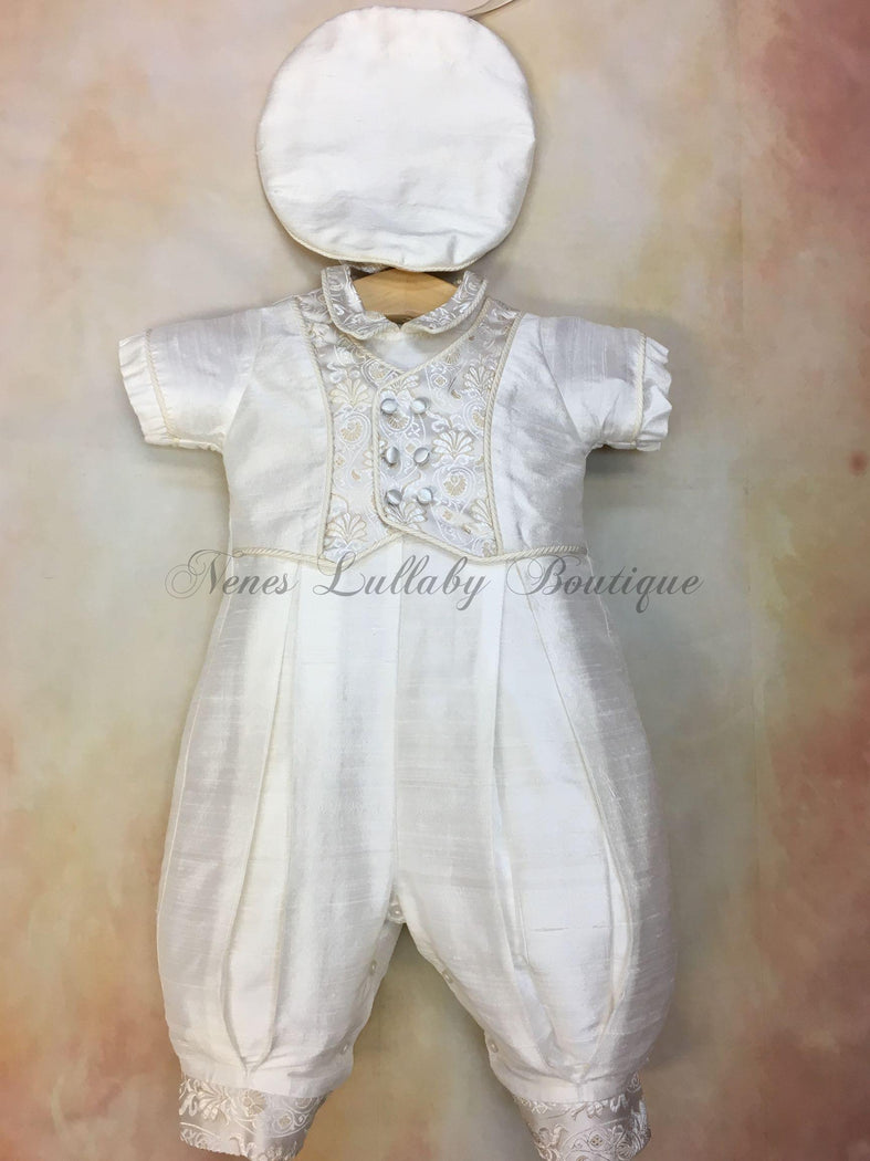 Joe Boys Christening outfit by Piccolo Bacio PB_Joe_sk_ss_lp - Nenes Lullaby Boutique Inc