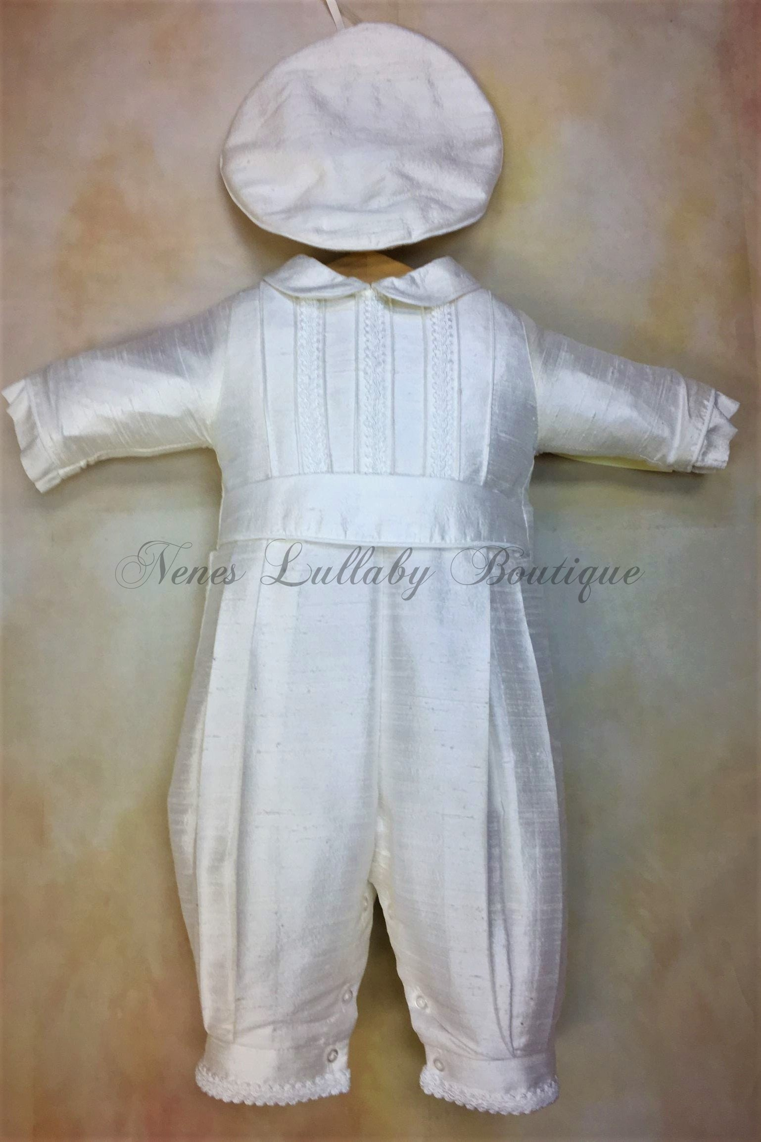 Little Prince Silk Christening outfit by Piccolo Bacio PB_Little_Prince_sk__ls_lp - Nenes Lullaby Boutique Inc