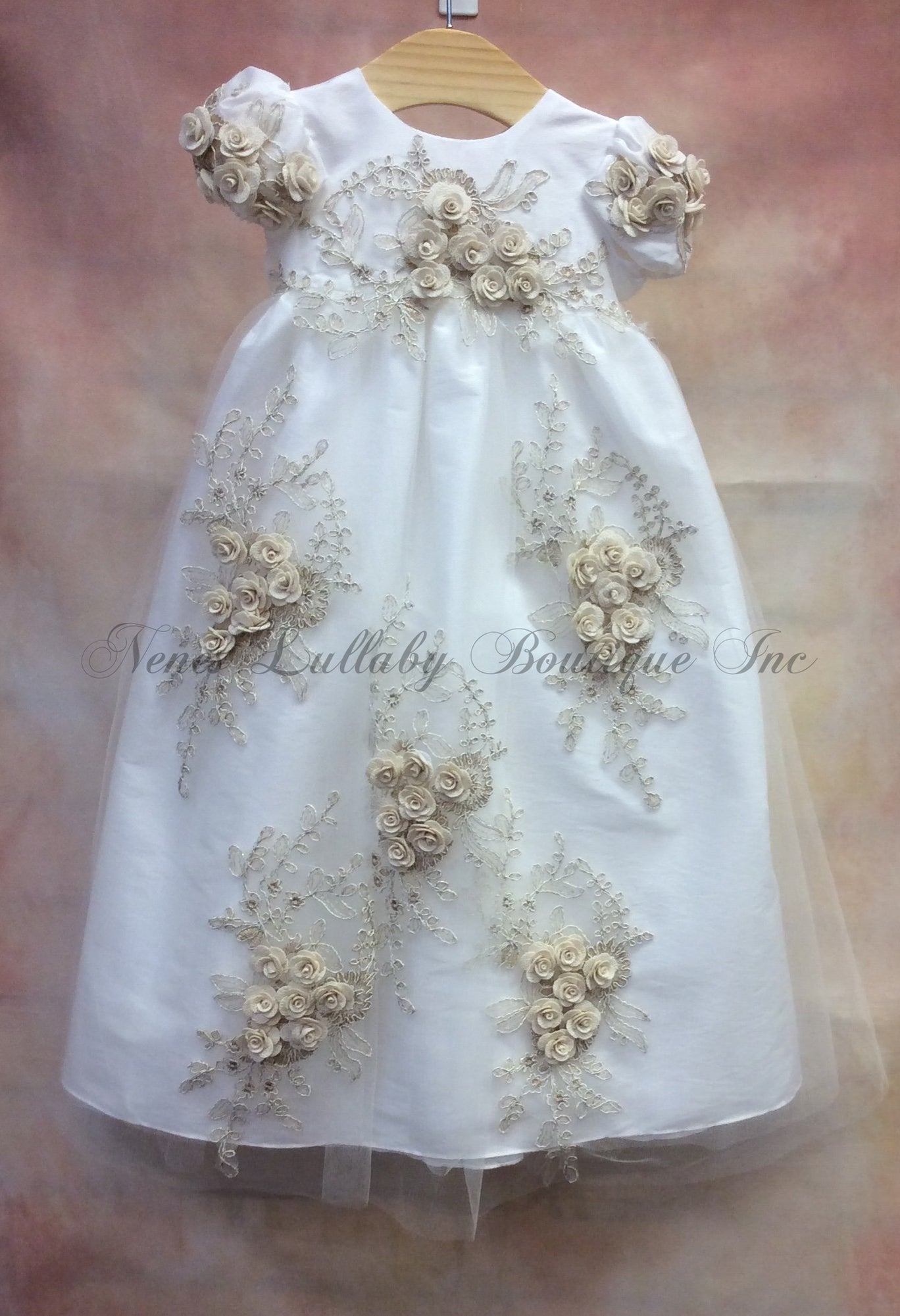 MDCH258IG_Long Christening Dress - Nenes Lullaby Boutique Inc